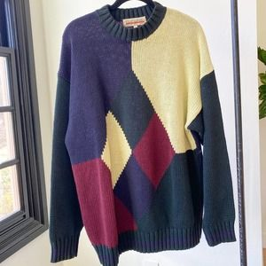 OLD SCHOOL CLOTHING CO. VTG Chunky Dad Sweater  L